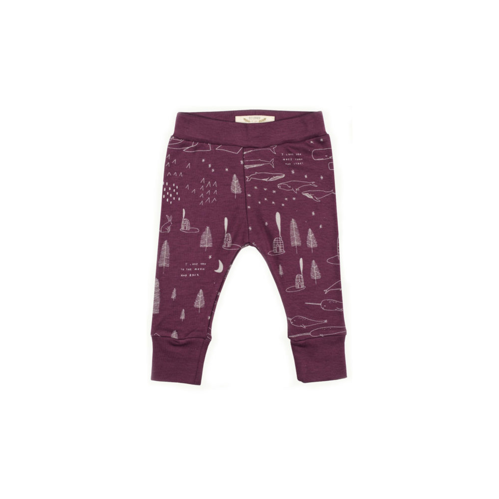 LEGGINGS RED CARIBOU THE STORY BORDEAUX