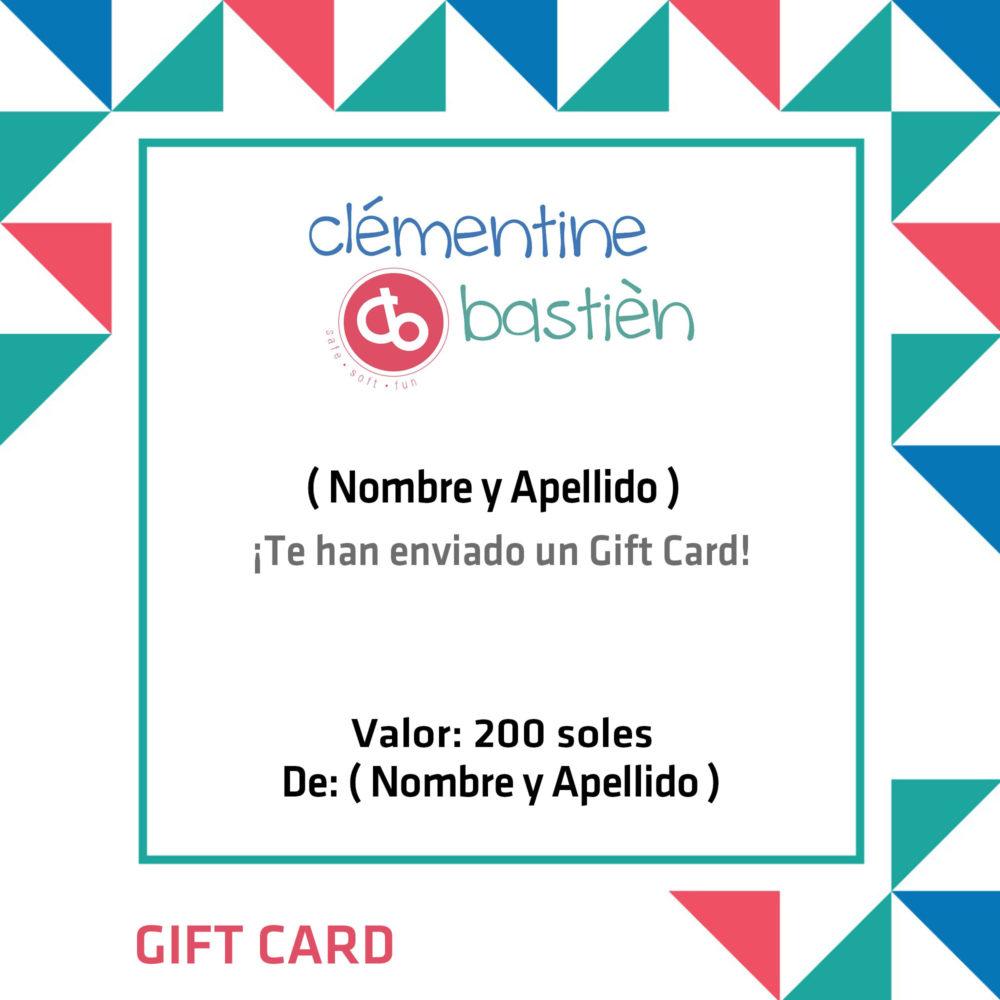 GIFT CARD DE 200 SOLES CLÉMENTINE & BASTIÈN