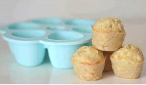 Mini muffins de plátano