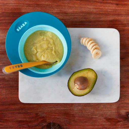 Puré de palta y plátano para bebés
