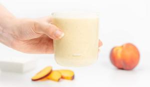 Pure de Duraznos con Yogurt Griego