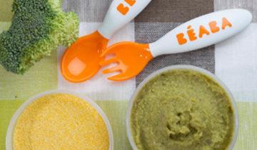 Puré de Brócoli, polenta y carne