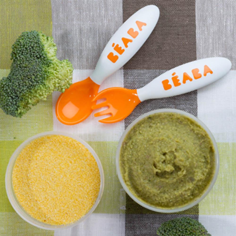 pure brocoli polenta carne
