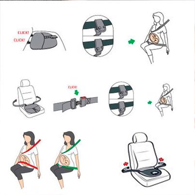 cinturon seguridad embarazo mamas