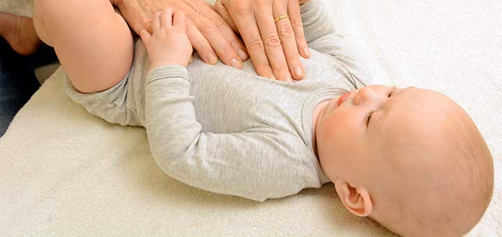 Cólicos en los bebés lactantes
