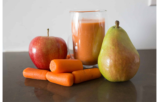 receta papilla pera manzana zanahoria