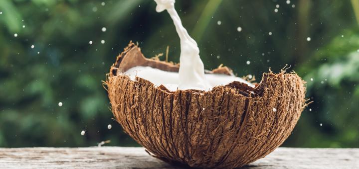 Puré de Mango, Plátano y leche de Coco